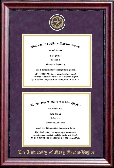 Graduation umhb campus store e1 purple double diploma frame solutioingenieria Image collections