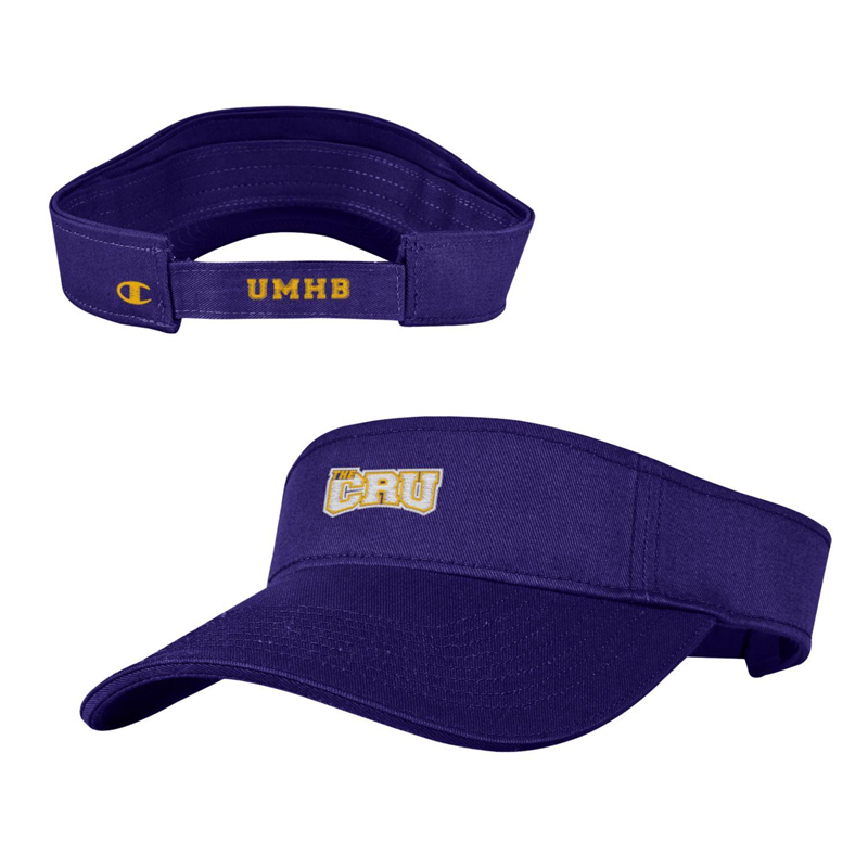 Garment Washed Twill Purple Visor (SKU 1025061712)