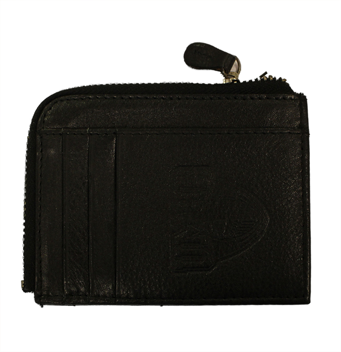 Black Zip-Around Id Wallet