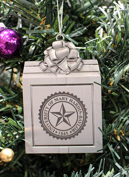 Pewter Present ornament