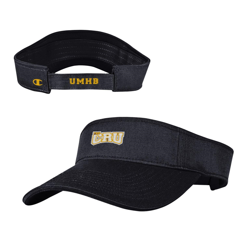 Garment Washed Black Twill Visor