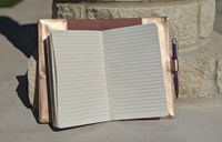 COMPACT PADFOLIO NOTEBOOK W/ZIPPER POCKET