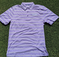 Forge Heather Stripe Polo