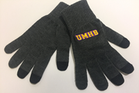 Itext Knit Texting Gloves In Charcoal