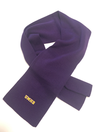 Purple Frosty Knit Scarf