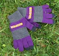 Trixie Charcoal Rugby Striped Gloves