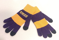 Trixie Purple Rugby Striped Gloves