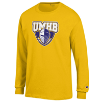 UMHB Official Logo L/S Tee Gold