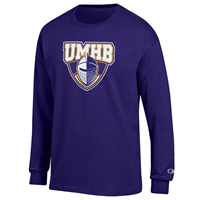 UMHB Official Logo L/S Tee Purple