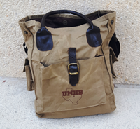 Waxed Cotton Canvas Utility Tote
