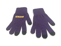 iTEXT KNIT TEXTING GLOVES IN PURPLE